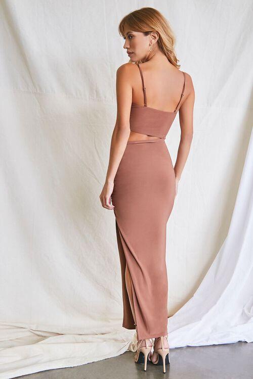 MOCHA Ruched Cutout Cami Maxi Dress, image 3