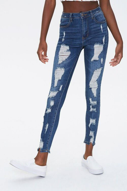 Distressed High-Rise Jeans, image 1