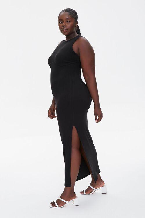 BLACK Plus Size Maxi Tank Dress, image 2