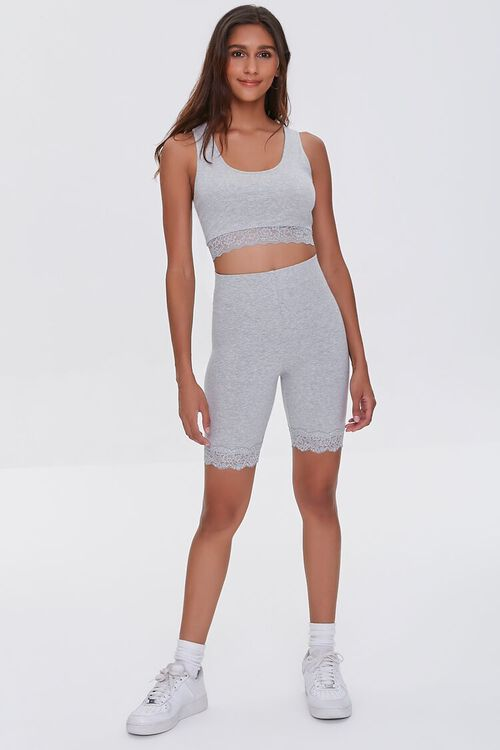 Lace-Trim Cropped Tank Top, image 4