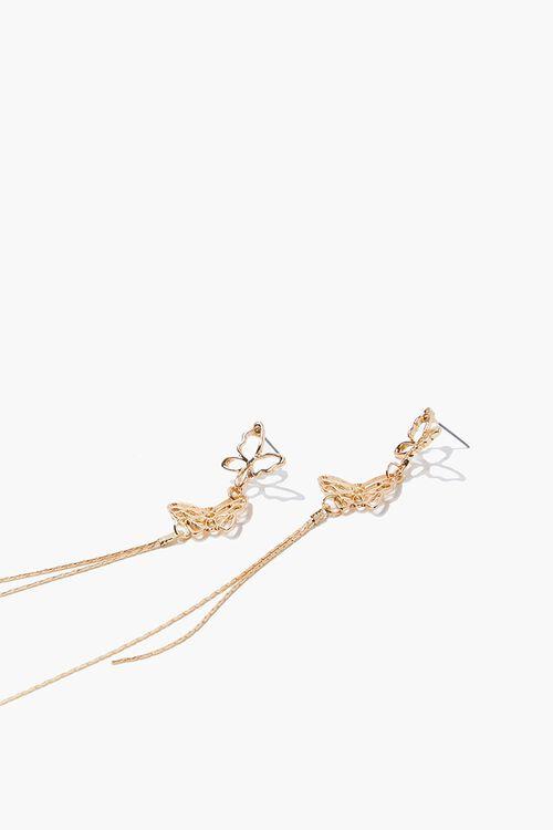 Butterfly Drop Chain Earrings, image 2