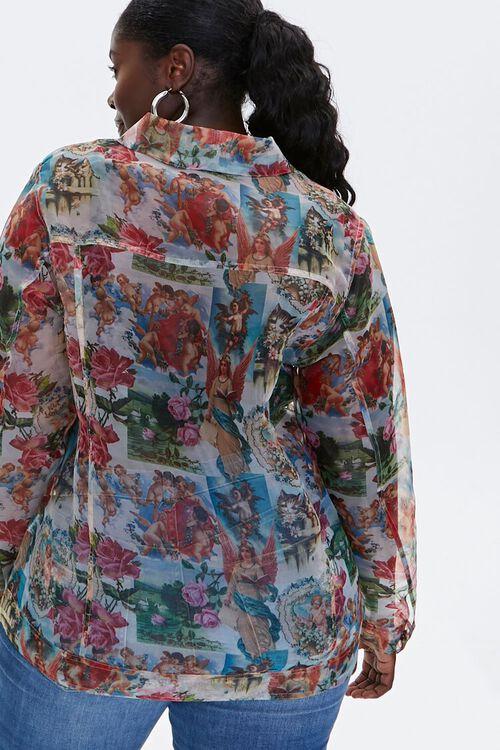 Plus Size Organza Cherub Shirt, image 3