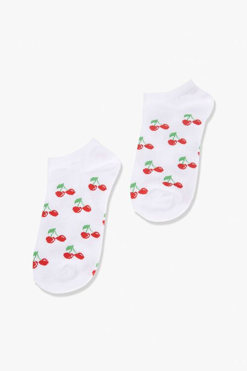 Cherry Print Ankle Socks, image 1