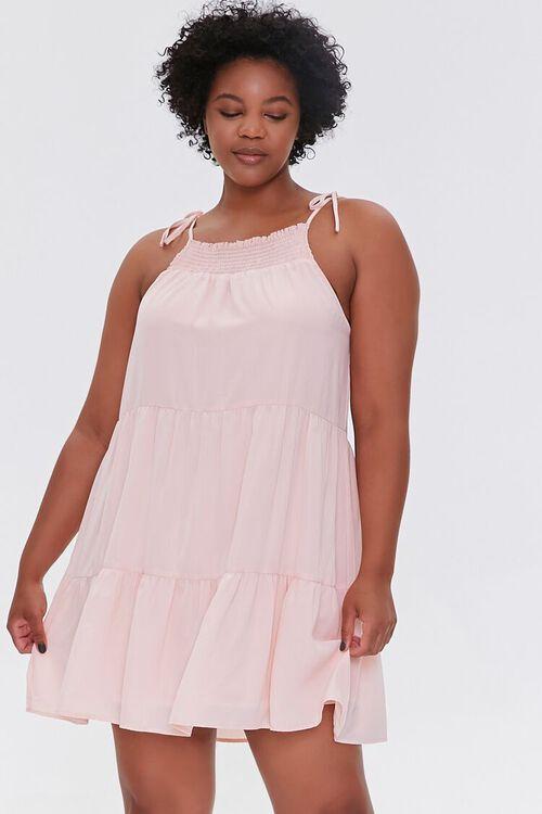 Plus Size Trapeze Mini Dress, image 1