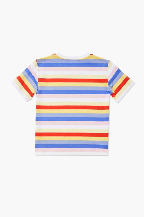 Girls Awesome Graphic Striped Tee (Kids), image 2