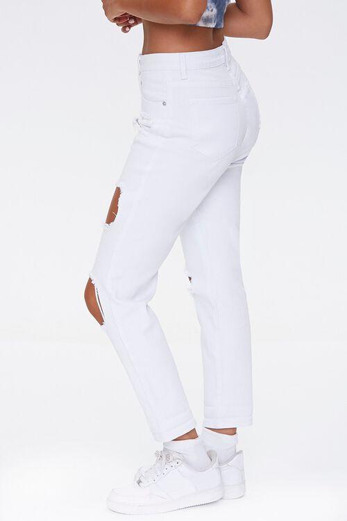 WHITE High-Rise Boyfriend Jeans, image 3