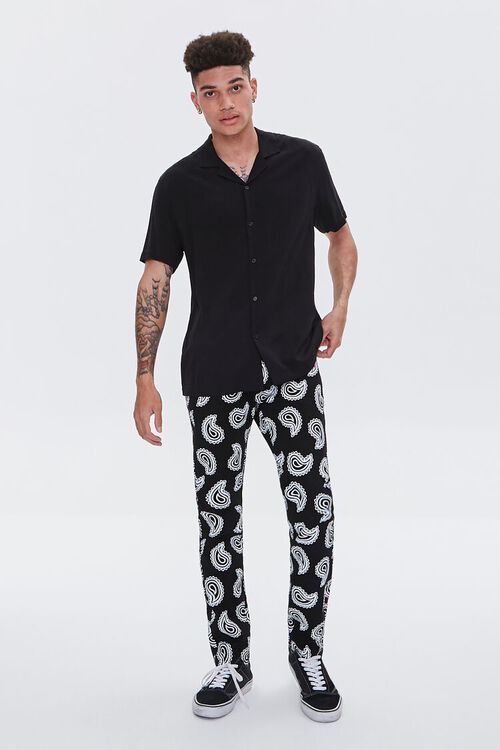 Paisley Print Skinny Jeans, image 5