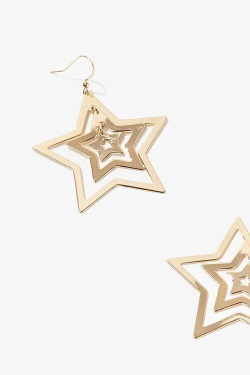 GOLD Cutout Star Drop Earrings, image 2