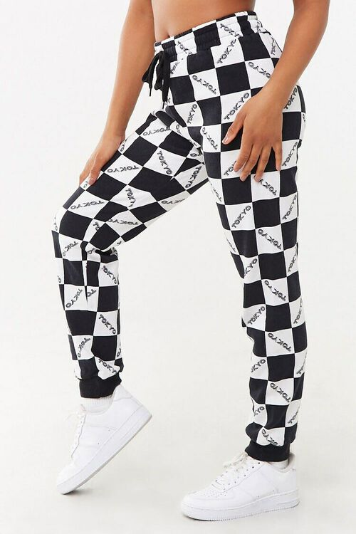 BLACK/WHITE Checkered Tokyo Joggers, image 2