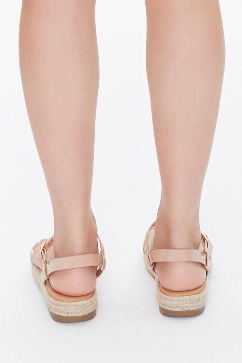 Clear-Strap Espadrille Flatform Sandals, image 3