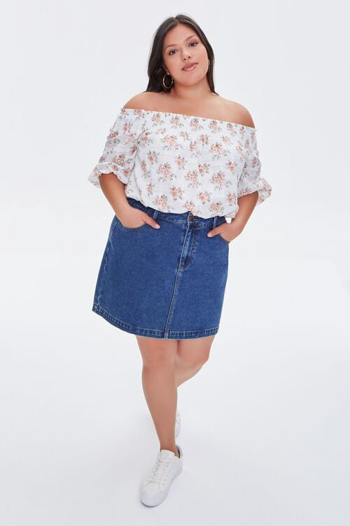 Plus Size Floral Off-the-Shoulder Top, image 4