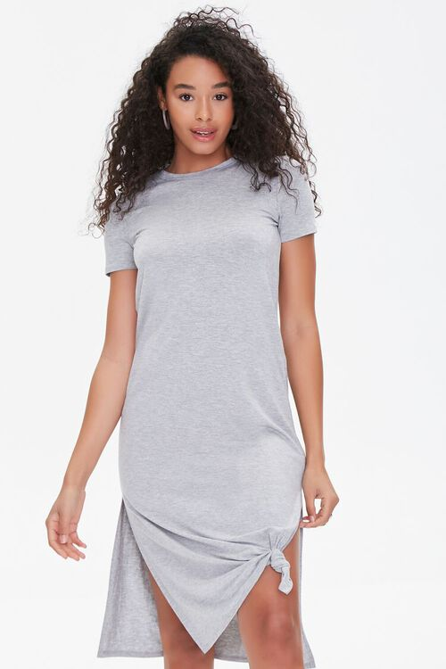 Leg-Slit T-Shirt Dress, image 1