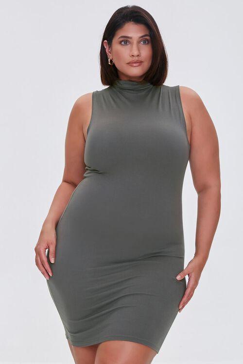 Plus Size Mini Sleeveless Dress, image 1