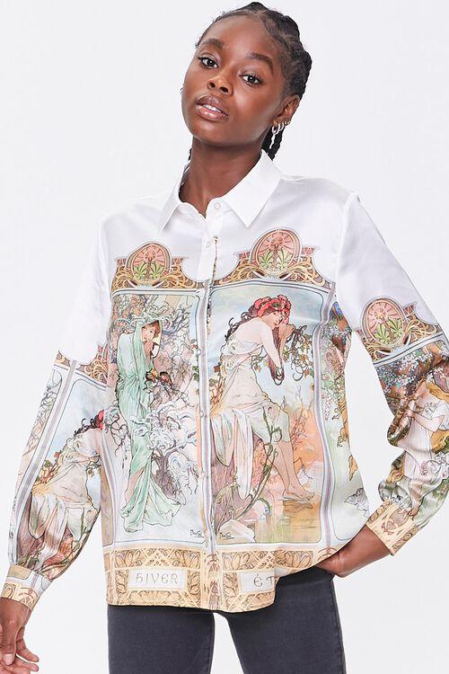 Alphonse Mucha Art Print Shirt, image 6