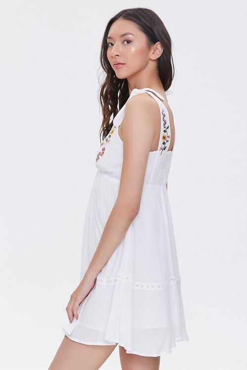 Embroidered Floral Mini Dress, image 3