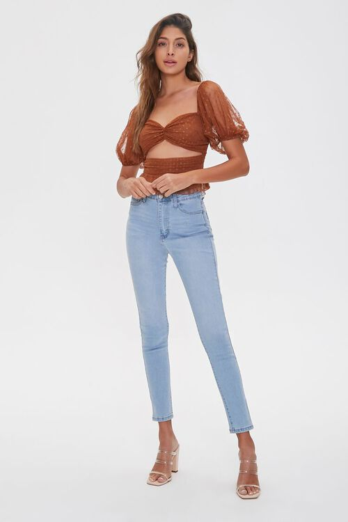 Dotted Mesh Cutout Top, image 4