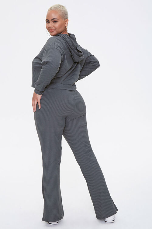 Plus Size Hooded Top & Pants Set, image 3