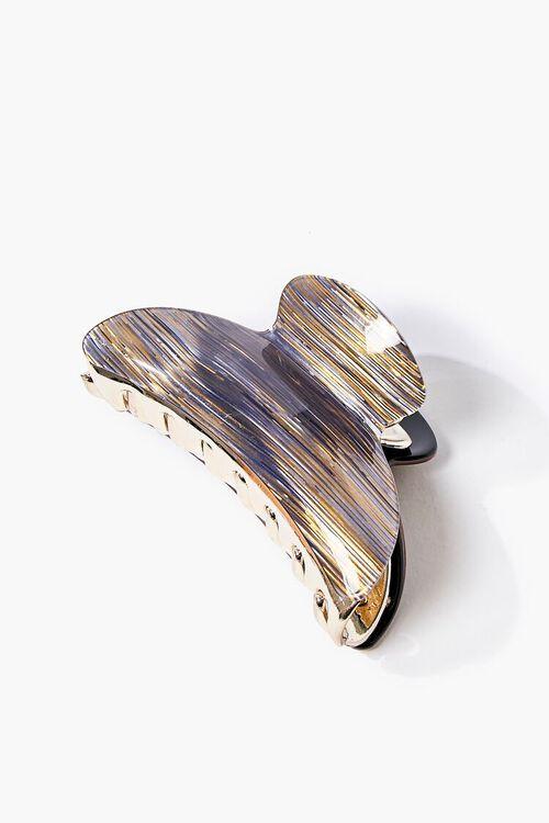 BRONZE/MULTI Metallic Microstriped Claw Clip, image 1