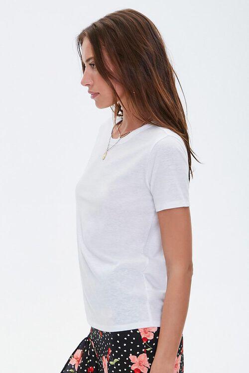 WHITE Basic Slub Knit Tee, image 2