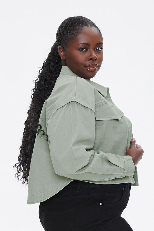 Plus Size Layered Cotton Jacket, image 2
