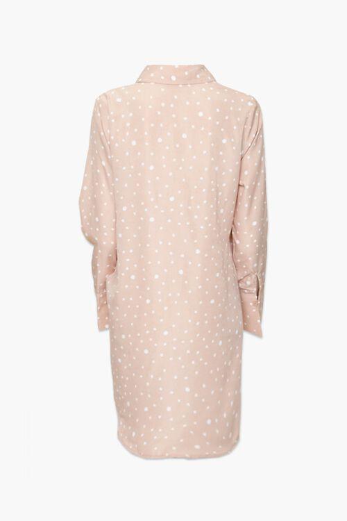 Knotted Polka Dot Shirt Dress, image 3
