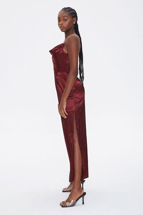 Satin Cowl Neck Maxi Dress, image 3