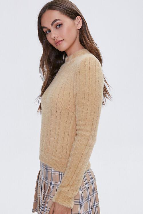 Fuzzy Knit Mock Neck Top, image 2