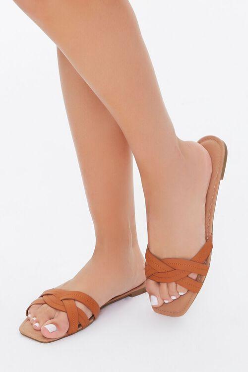 Braided Crisscross Sandals, image 1