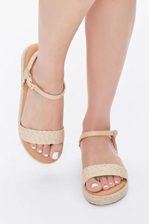 Braided-Strap Espadrille Flatform Sandals, image 4
