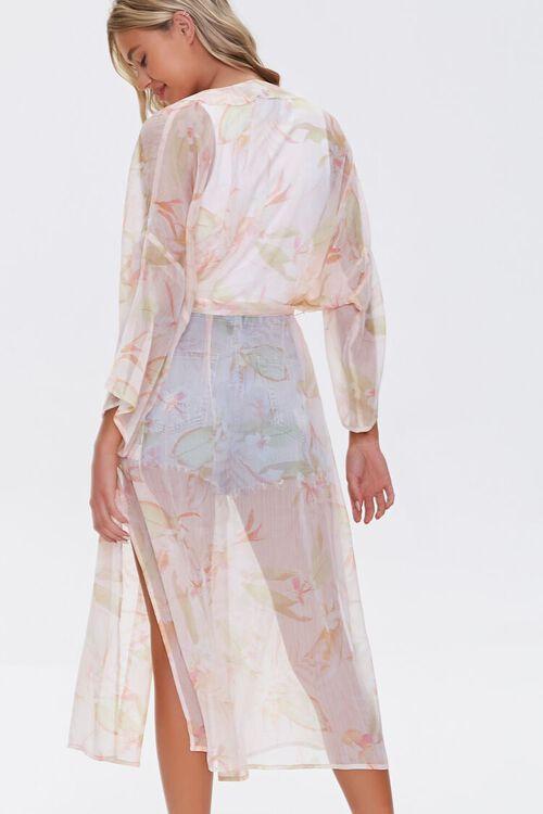 Tropical Floral Print Kimono, image 3