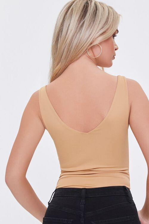 Ruched Sleeveless V-Neck Bodysuit, image 3