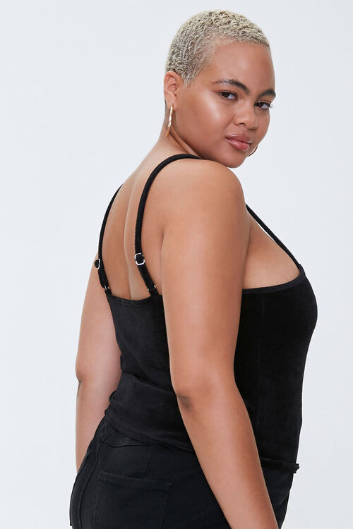 Plus Size Heart Cropped Cami, image 2