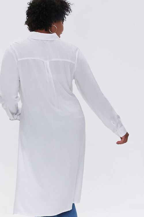 Plus Size Knotted Longline Shirt, image 3
