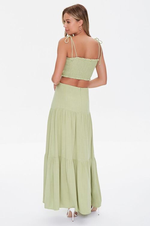 Smocked Cropped Cami & Tiered Skirt Set, image 3