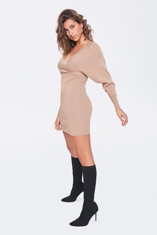 Surplice Mini Sweater Dress, image 4