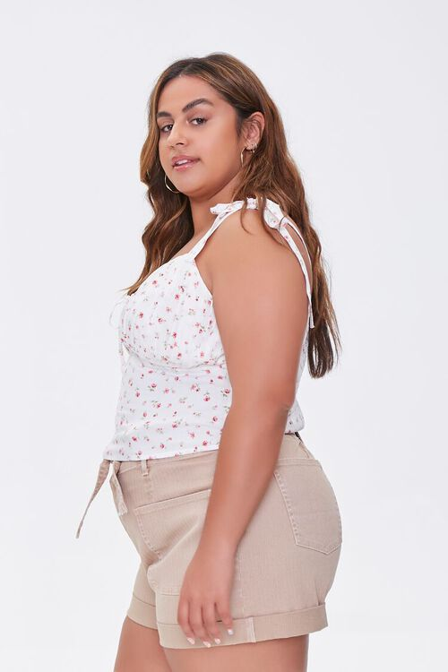 Plus Size Floral Sweetheart Top, image 2
