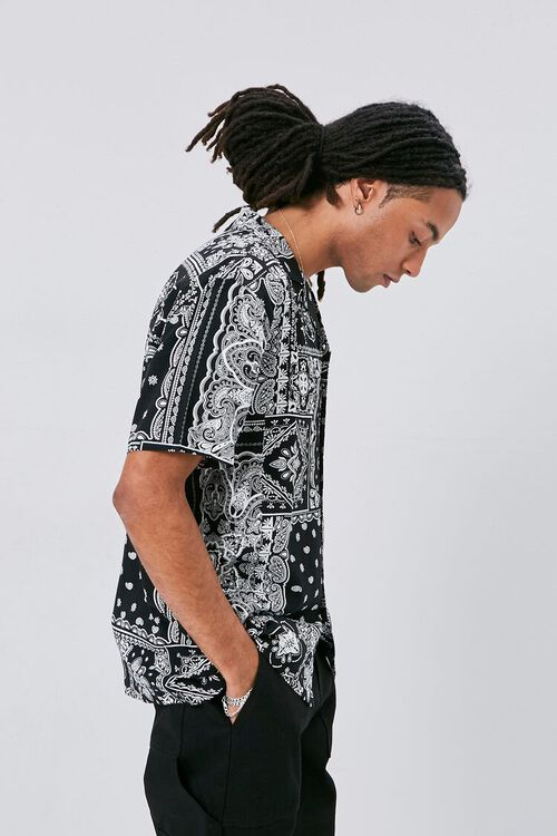 Classic Fit Paisley Print Shirt, image 2