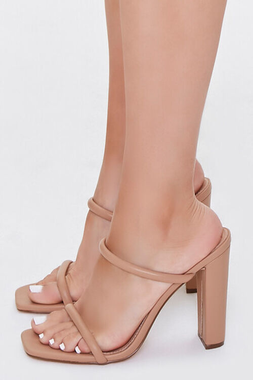 NUDE Faux Leather Block Heels, image 2