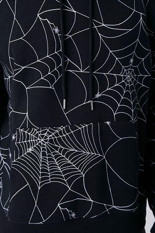 BLACK/MULTI Spiderweb Print Fleece Hoodie, image 5
