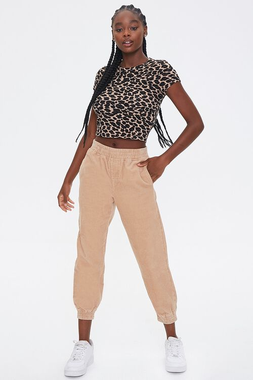 Leopard Print Cropped Tee, image 4