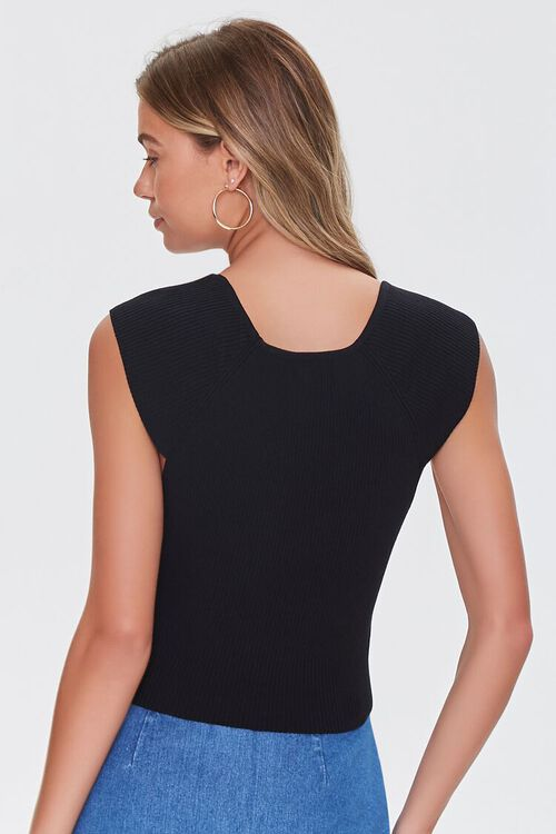 Cap-Sleeve Ruched Sweater, image 3