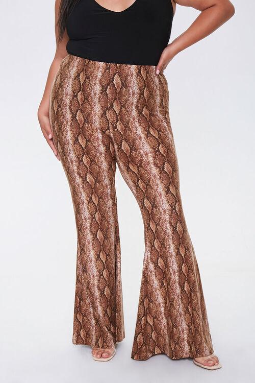 Plus Size Snake Print Jordyn Pants, image 2
