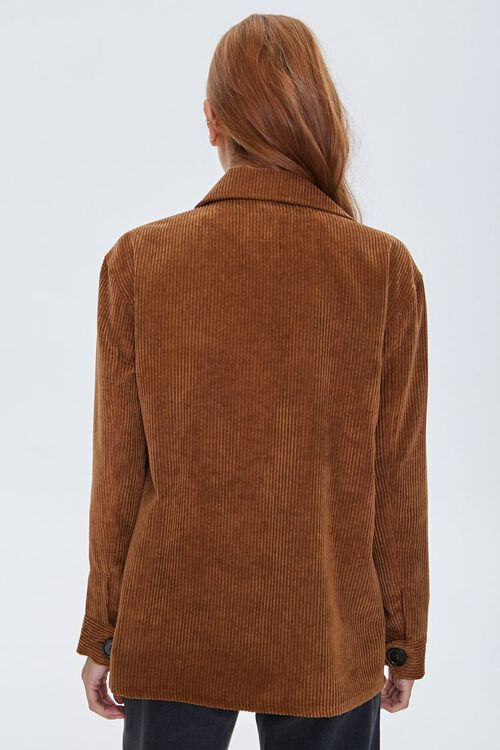 Corduroy Button-Front Shacket, image 3