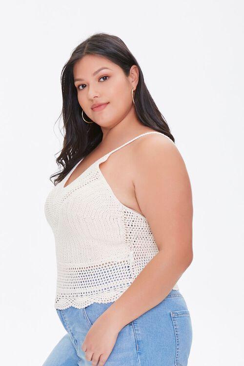 Plus Size Crochet Sweater-Knit Cami, image 2