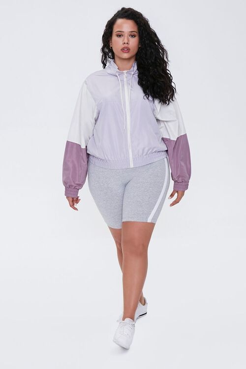 Plus Size Colorblock Windbreaker, image 4