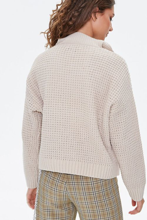Open-Knit Half-Zip Sweater, image 3
