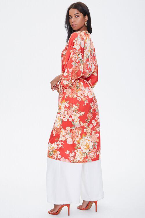 Satin Floral Kimono, image 3
