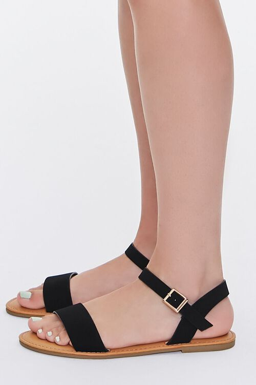 Faux Suede Open-Back Sandals, image 2