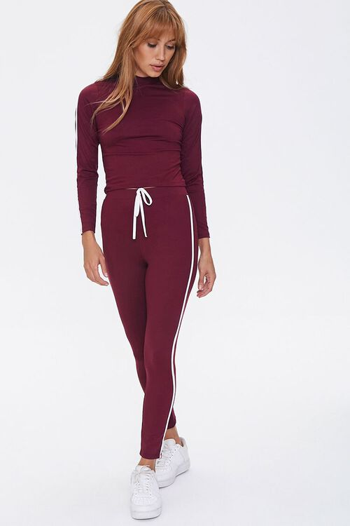 Side-Striped Top & Leggings Set, image 1