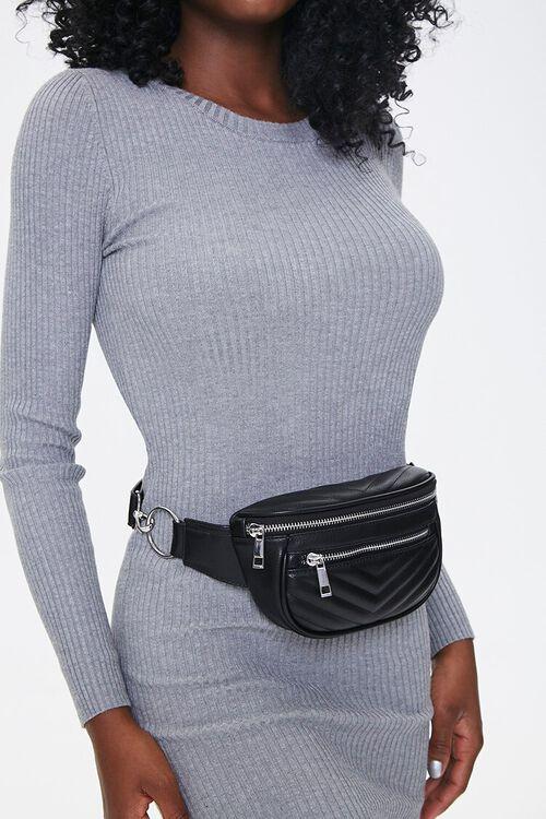 Chevron Quilted Belt Bag, image 1